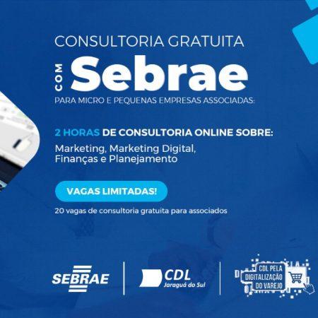 Consultoria gratuita para Associados com SEBRAE
