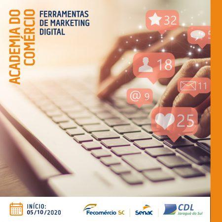 Academia do Comércio: Curso Online gratuito – Ferramentas de Marketing Digital