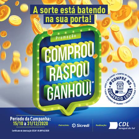 CDL Jaraguá do Sul distribuirá R$ 100 mil em vale-compras