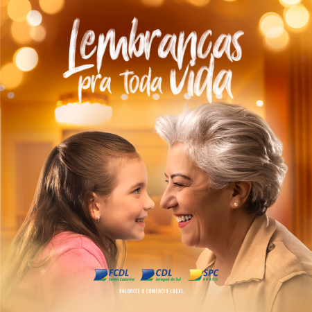 """CDL de Jaraguá lança campanha """"Lembranças pra toda vida"""" para o Dia dos Avós"""